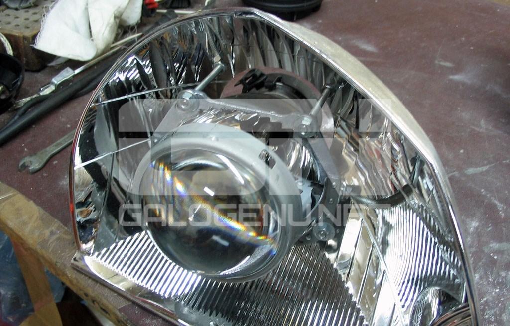 Hyundai Tucson переделка фар и
